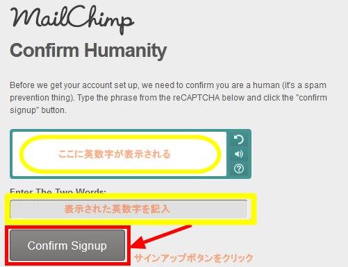 MailChimpでサイン